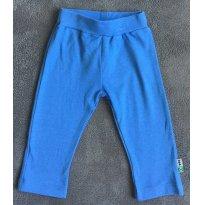 Calça malha azul com aplique no bumbum - Tam 12 a 18m