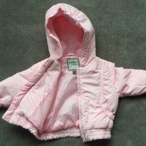 Jaqueta rosa bebe menina - Tam 03 a 06m