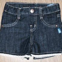 Shorts Jeans Infantil Menina Com Aplique Em Renda - Tam 03