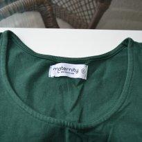 Gravidez - Blusa de Malha Sem Manga (verde)