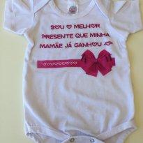 Body divertido para mamãe- 9/12 meses menina