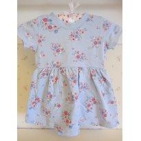Vestido Body Carters Azul Floral - Tam 18 Meses