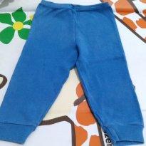 Calça azul simples em malha grossa