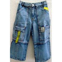 1896 - Calça capri jeans 10 anos - Fechos abacate