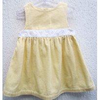 2065 - Jumper em veludo amarelinho - 12/18 meses