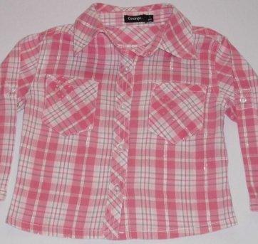 Camisa Xadrez Rosa - Tamanho 1 ano