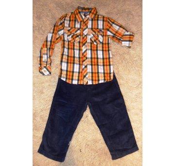 Conjunto Camisa  Calça - Tamanho 3 a 4 anos   - 2 peças