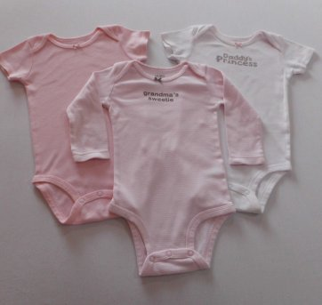 Kit Bodies Carter´s - 12 meses - 3 peças