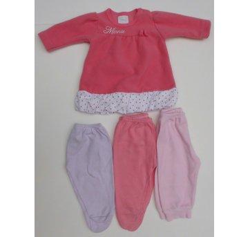 Agasalho Minnie   Mijão de Bebê ( 3 peças) - Tamanho P - 3 meses