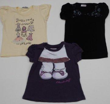 Camisetas Menina - 3 peças - Tamanho 1