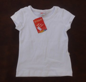 Blusinha /Camiseta Branca- NOVA -  Brandili - Tamanho 2 - TAMANHO 2