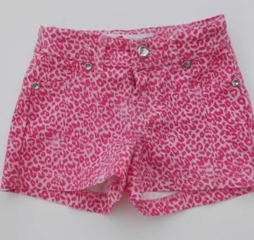 Shorts  Jeans - Oncinha Rosa - Impecável -Tamanho 4