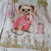 Blusa manga longa cachorrinho - 6 anos - Mon Sucré