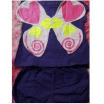 Pijama borboleta - 1 ano - Fábrica de Sonhos