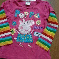 Blusa Pepa Pig - 2 anos - Não informada