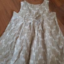 Vestido  bordado - 6 a 9 meses - Baby Club