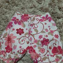 Short florido rosa - 1 ano - Não informada