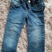 Calça jeans com babado - 12 a 18 meses - Mania Kids