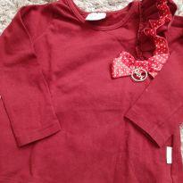 Blusa manga longa vermelha - 1 ano - Quimby