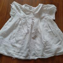 Bata branca - 3 a 6 meses - Bebê Buá