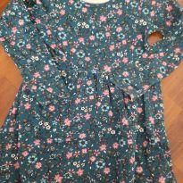 Vestido azul florido - 8 anos - Brandili