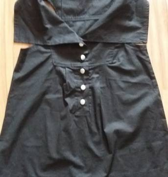 Camisa preta com botões - P - 38 - Costureira