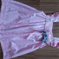 Blusinha rosa de laço e botão - 6 anos - Figurinha