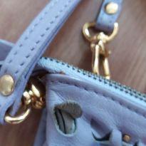 Bolsa couro lilás