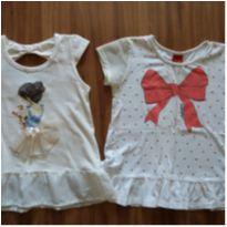 Lote 2 camisas fofas - 4 anos - Kyly / Mais outra marca