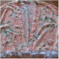 Kimono florido - M - 40 - 42 - BLUE STEEL(RENNER)