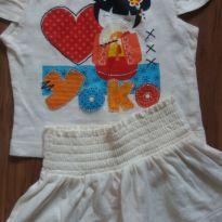 camisa e saia bebê 6/9 meses - 6 meses - Baby Club