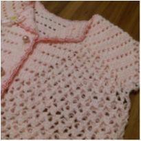 casaqueto bebê rosinha lindo - doação comprasl lojinha - 0 a 3 meses - Não informada