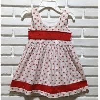 L21 - Vestido de bolas e bolinhas - M/5 anos - 5 anos - Artesanal