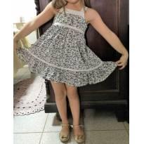 L20- Vestido floral de alcinhas - M/5 anos - 5 anos - Artesanal