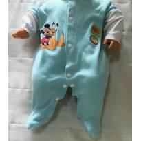 L63 - Macacão Disney - H/RN - Mickey & Pluto - 3 meses - Disney baby