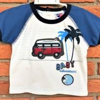 L74 - Camiseta branca e azul - Tip Top G - H/9-12 meses - Baby Adventure - 9 a 12 meses - Tip Top