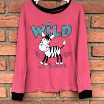 L120 - Top pink Faded Glory - M/5 anos - Wild at Heart - 5 anos - Faded Glory (EUA)