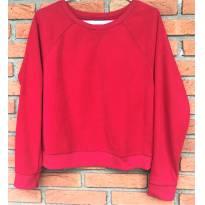 L193 - Blusão vermelho em malha fleece - Faded Glory - H/14-16 anos - 14 anos - Faded Glory (EUA)