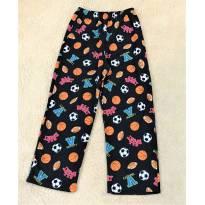 L204 - Calça comprida fleece de pijama  Mad Dog - H/14-16 anos - 14 anos - Importado