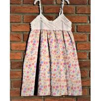 L215 - Vestido estampado de alcinhas - M/5-6 anos - 5 anos - sem etiqueta