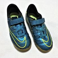 L224 - Tênis Nike Mercurial azul metálico - H/13 USA - 30 BR - 19 cm. - 30 - Nike