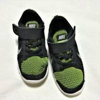 L222 - Tênis Nike Free 5.0 - preto e verde - H/13 USA - 30 BR - 19 cm. - 30 - Nike