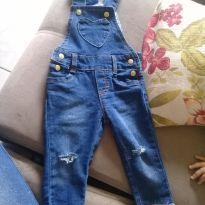 Jardineira jeans - 6 a 9 meses - yoyo Baby
