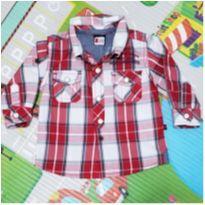 Camisa Xadrez Teddy Boom - 3 a 6 meses - Teddy Boom