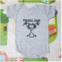 Body Pearl Jam - 3 a 6 meses - Nenê Legal