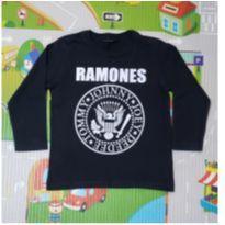 Camiseta Manga Longa Ramones - 3 anos - Póim