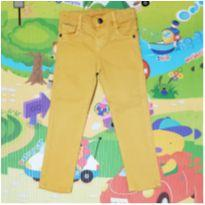 Calça jeans amarela Pool - 3 anos - Pool Kids