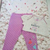 Trio body, blusa, calça  Carters  6m - 6 meses - Carter`s