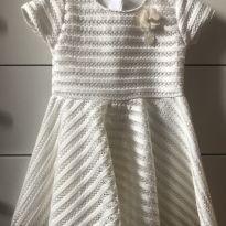 Vestido branco renda - 1 ano - Milon