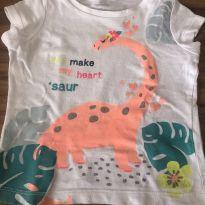 Camiseta Dino Carters - 9 a 12 meses - Carter`s